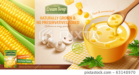Instant corn cream soup ads 63148970