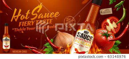 Hot sauce banner ads 63148976
