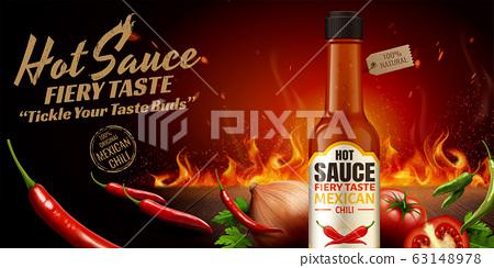Hot sauce ads 63148978