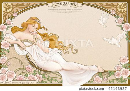 Elegant art nouveau style goddess 63148987