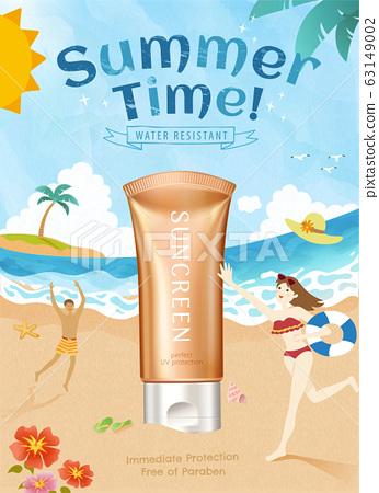summer sunscreen product ads 63149002