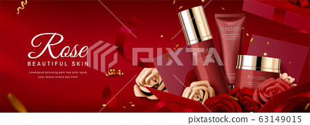 Skincare product banner ads 63149015