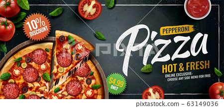 Pepperoni pizza banner ads 63149036