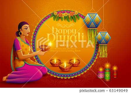Happy Diwali design 63149049