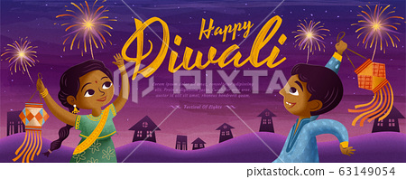 Happy Diwali design 63149054