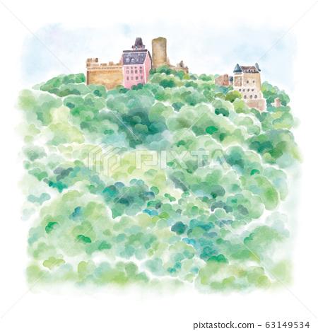 萊茵河畔的紹恩堡城堡 63149534