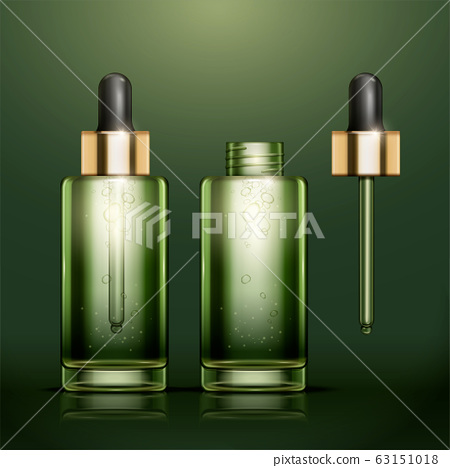 Green oil essence bottles 63151018