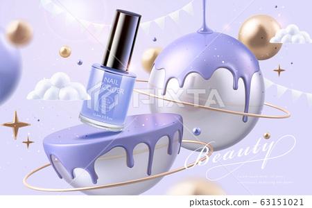 Purple nail lacquer ads 63151021