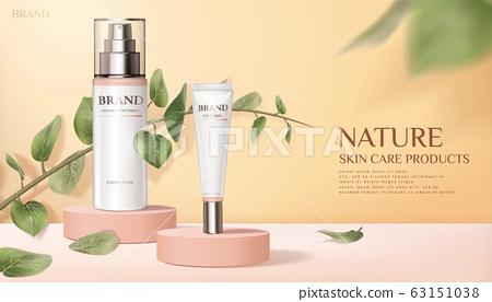 Nature skincare product ads 63151038