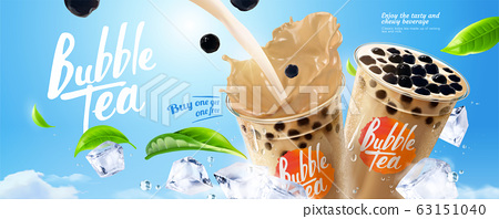 Bubble milk tea ads 63151040