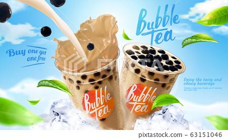 Bubble milk tea ads 63151046