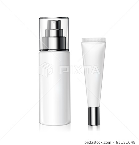 White cosmetic bottles set 63151049