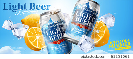 Iced cool light beer banner ads 63151061