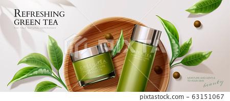 Green tea skincare banner ads 63151067
