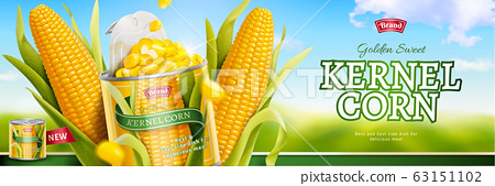 Kernel corn canned food ads 63151102