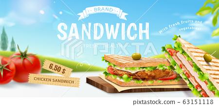 Roasted chicken sandwich ads 63151118