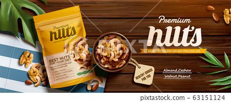 Premium nuts banner ads 63151124