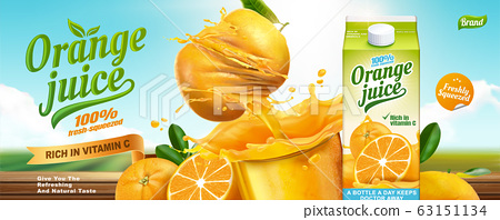 Orange juice banner ads 63151134