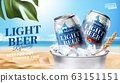 Refreshing light beer ads 63151151