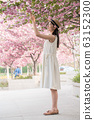 beautiful girl and cherry blossom 63152300