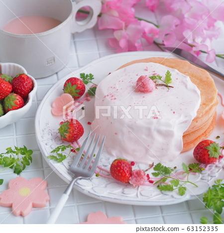 Spring sweets cherry pancake 63152335