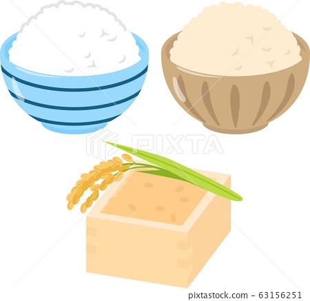 白米飯,糙米飯和炒飯 63156251