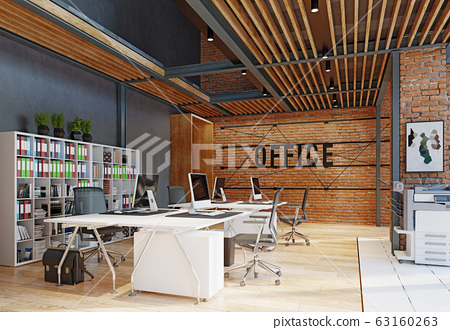 contemporary loft office 63160263