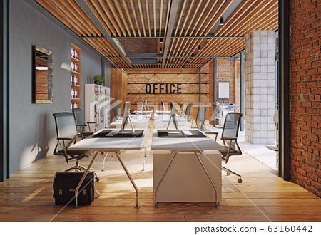 contemporary loft office 63160442