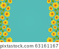 Retro sunflower background material japanese pattern sunflower wedding 63161167