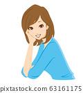 Cheek cane woman smile 63161175