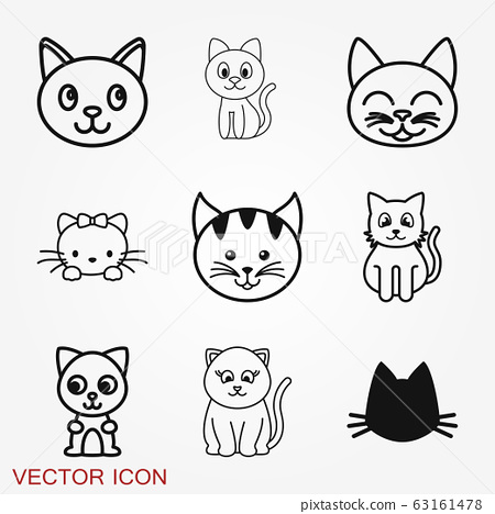 Kitty Vector Icon. Cat symbol isolated on 63161478
