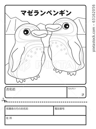 麦哲伦企鹅着色申请表 63162056