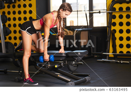 fit girl - body building training 63163495