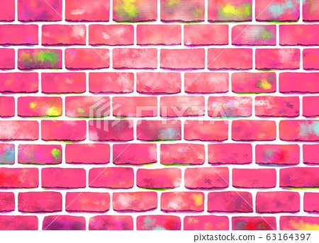 Pink Brick Background Wallpaper Material Stock Illustration 63164397 Pixta
