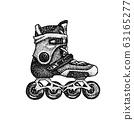 Dotwork Roller Skates 63165277