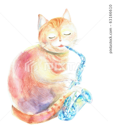 貓玩薩克斯管 63166610