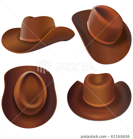 Vector Cowboy Leather Hats 63168686
