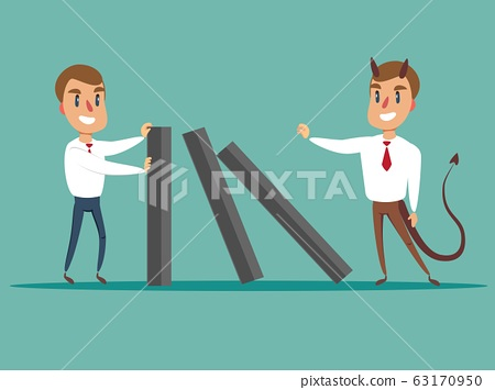 domino effect - Business concept . 63170950