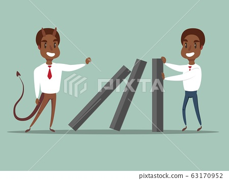 domino effect - Business concept . 63170952