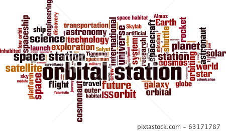 Orbital station word cloud 63171787