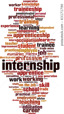 Internship word cloud 63171790