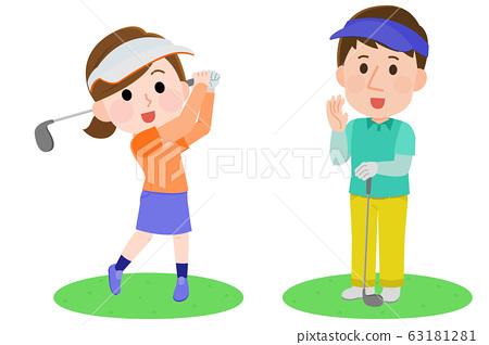 Golf Gender Illustration 63181281