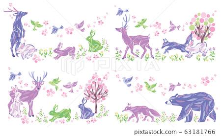 春季動物插圖集 63181766