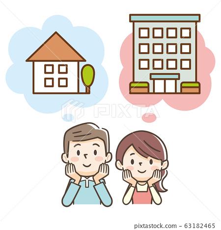 주택 또는 아파트 망설 부부 63182465
