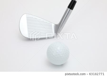 골프 볼과 클럽 63182771