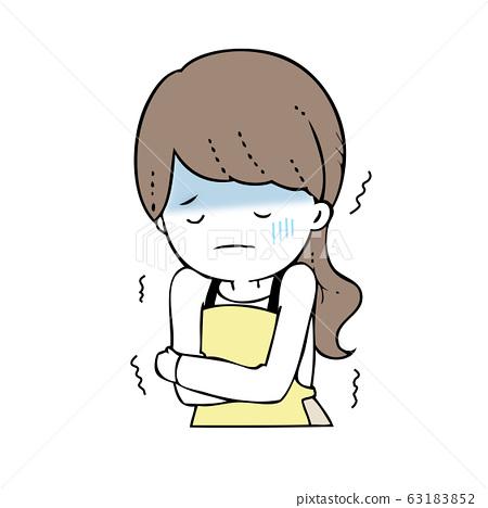 Woman feeling cold 63183852