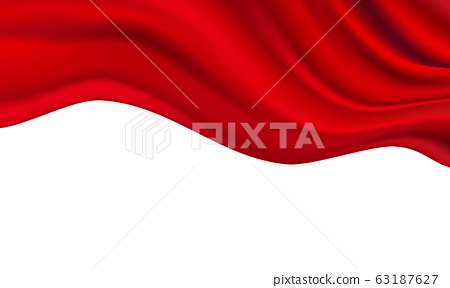 Abstract gradients fabric red waves sale banner 63187627