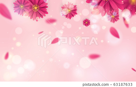 Design banner Spring  beautiful pink and white 63187633