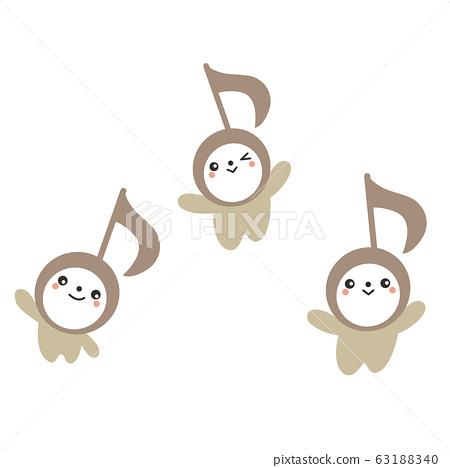 鋼琴音符可愛的音符,可用於鋼琴演奏會,廣告牌和音樂活動 63188340