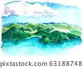 Lake sea mountain sky 63188748